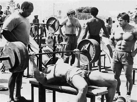 arnold schwarzenegger max bench press 1 quick tip to instantly increase your bench press broscience