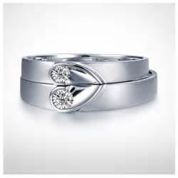 matching wedding bands unique shape couples matching wedding band rings on silver jeenjewels