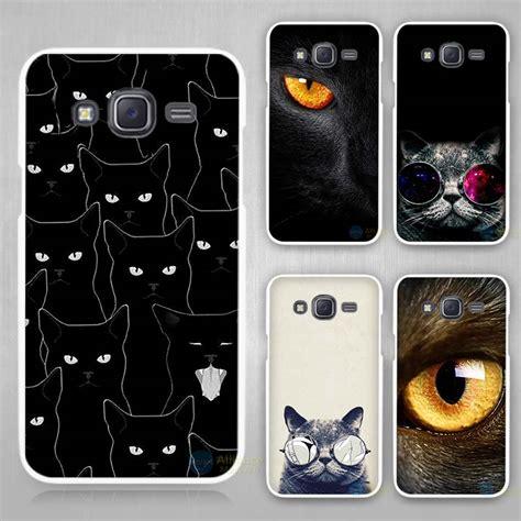 3d Cat For Samsung Galaxy J1 2015 J5 2015 black cat white plastic cover for samsung galaxy j1 j2 j3 j5 j7 c5 c7 e5 e7 2016 2017