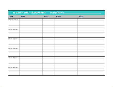 volunteer sign up sheet template sample volunteer sign up sheet