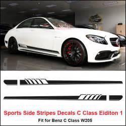 edition 1 side stripes decal sticker for mercedes