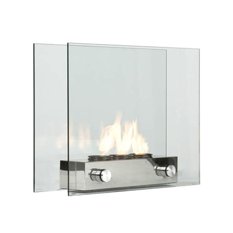 tempered glass portable fireplace keeps you warm indoor