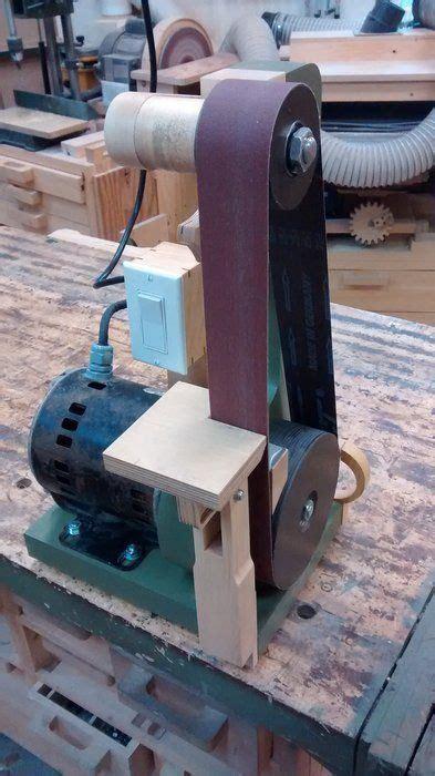homemade belt sandergrinder derevoobrabatyvayushchaya
