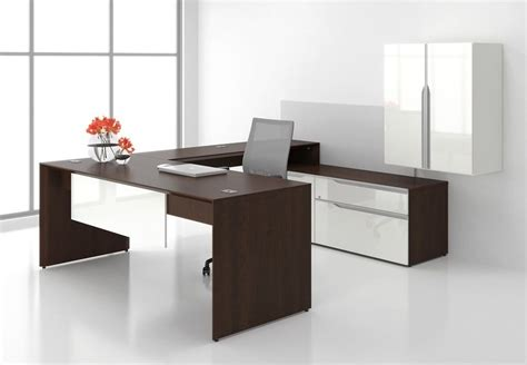 Office Desk With Hutch Storage by Nex Modern L Shape Executive Office Desk Shell Storage