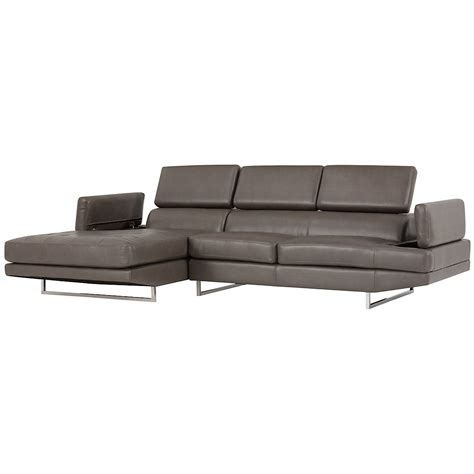 Grey Microfiber Sectional With Chaise City Furniture Loki Dk Gray Microfiber Left Chaise Sectional