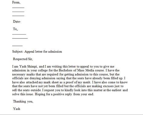 sample appeal letter write appeal letter
