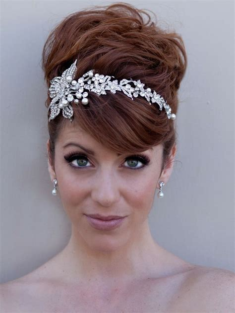 Wedding Hair With Bling by 17 Best Images About Headbands On Hair Medium
