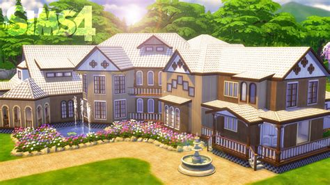 build a mansion the sims 4 house building quot kaleidoscope quot with