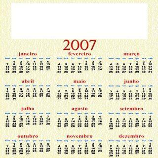Calendario Ano 2007 Freebie Calend 225 Anual