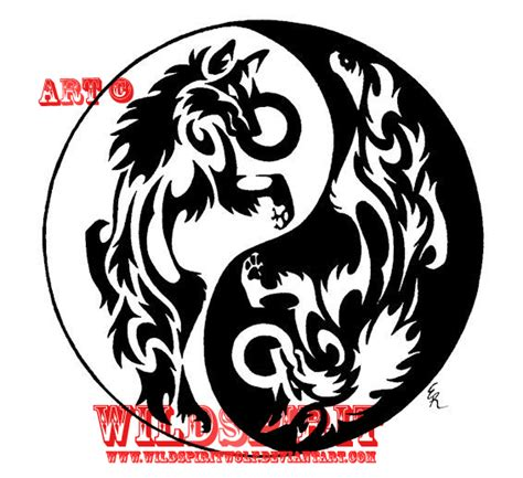 yin yang wolf tattoo yin yang wolves frisbee design by wildspiritwolf on deviantart