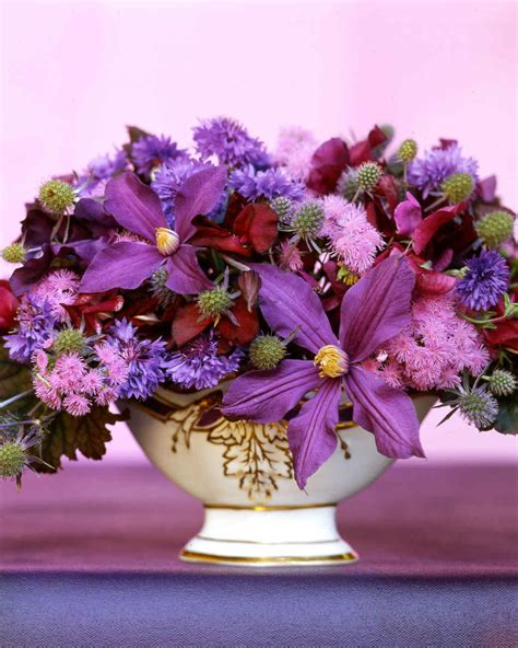 purple flower arrangements centerpieces purple flower arrangements martha stewart
