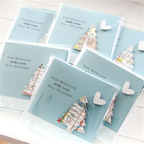 Gift Cards Melbourne Australia - melbourne christmas card australia map tree australiana souvenir the little card