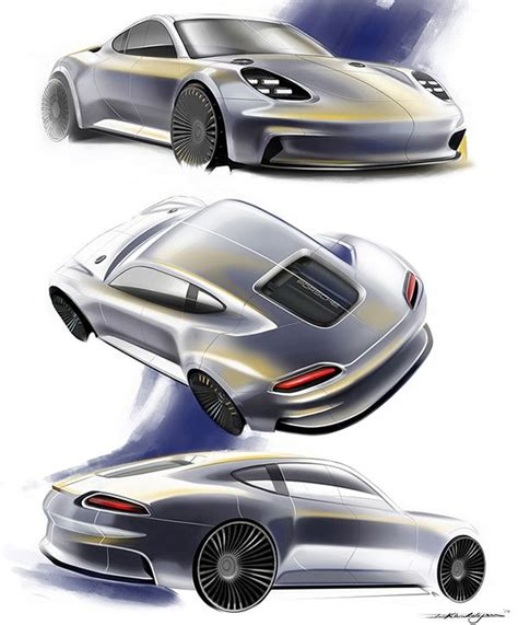 porsche concept sketch porsche 911 turbo hybrid on behance doodles