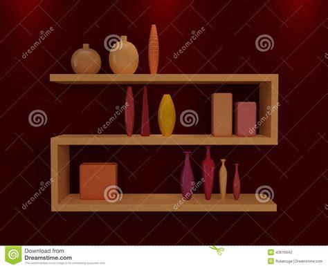 scaffali moderni mensole moderne illustrazione di stock immagine 43616942
