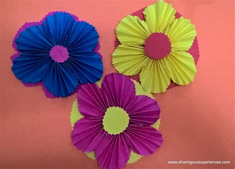 How To Make Colored Paper Flowers - how to make paper flowers