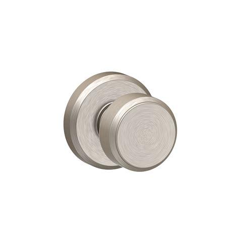 Schlage Satin Nickel Door Knobs by Shop Schlage F10 Bowery With Greyson Satin Nickel