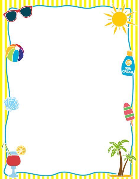 summer template printable summer border free gif jpg pdf and png