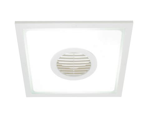 10 inch exhaust fan heller 10 inch 2 in 1 square exhaust fan light white