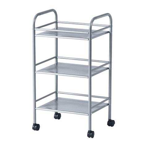 ikea trolley draggan trolley silver colour 41x32x75 cm ikea