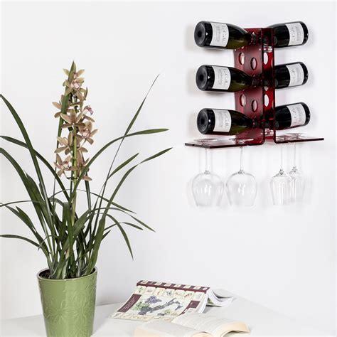 porta bottiglie da parete cantinetta porta bottiglie da parete rosso design