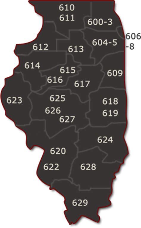 printable zip code map of illinois zip codes southern illinois map