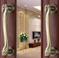 Front Door Pull Handles 315mm Pull Push Handles Copper Or Brass Color For Entrance Entry Front Door Antique In Cabinet