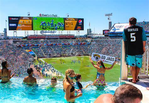 jacksonville jaguars stadium pool nfl luxury suites touring the most out stadium
