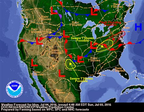 heavy rainfall possible severe weather july 4th weekend