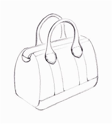 drawing bag pattern handbag line drawing