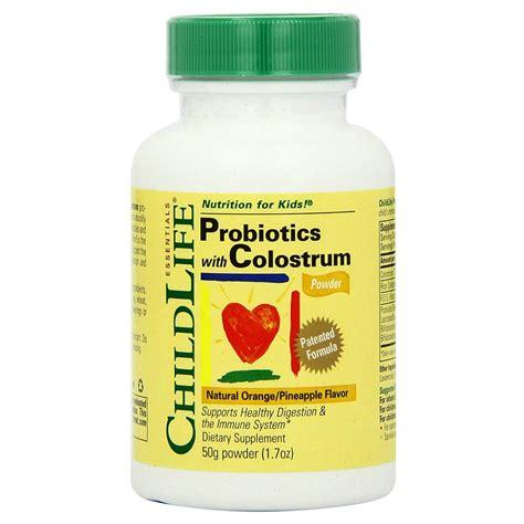 Childlife Probiotics With Colostrum Orange Pineapple Flavor childlife probiotics plus colostrum powder orange pineapple flavor 50 g evitamins