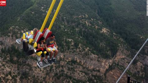 glenwood springs swing ride big thrills at theme parks cnn com