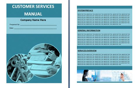 customer service manual template customer services manual template free manual templates