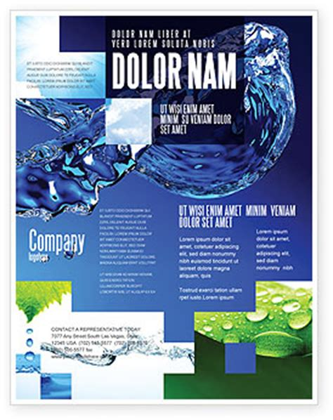 flyer design water blue water flyer template background in microsoft word