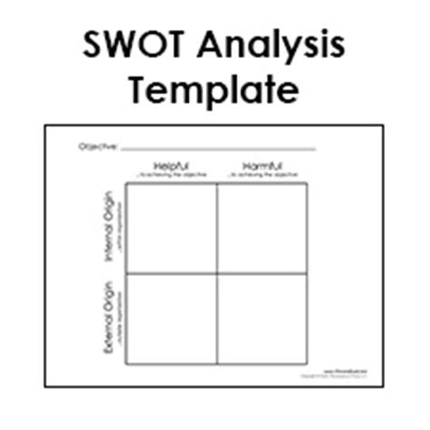 swot analysis worksheet template swot analysis template