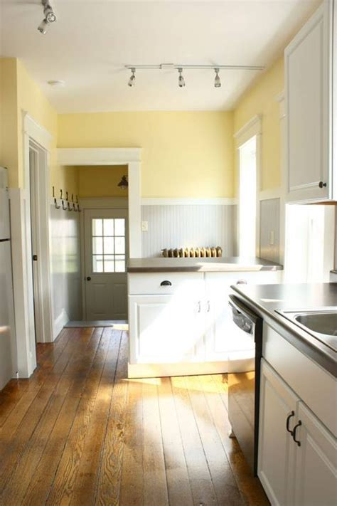 Light Yellow Kitchen Kitchen Color Scheme Pale Yellow Grey White Charm For The Home Pinterest The Floor