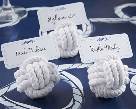 boat names with blue in them nautical cotton rope place card holder set of 6 sailing