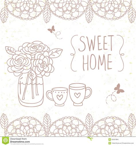 doodle home home design stock vector image 55561884