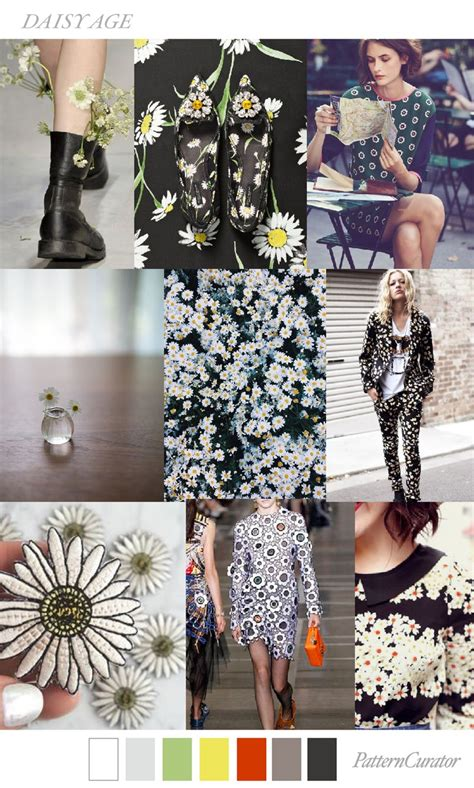 color pattern fashion trends pattern curator daisy age ss 2018 fashion