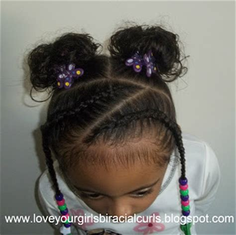 homecoming hairstyles for mixed hair love your girls biracial curls cornrows with curl puffs
