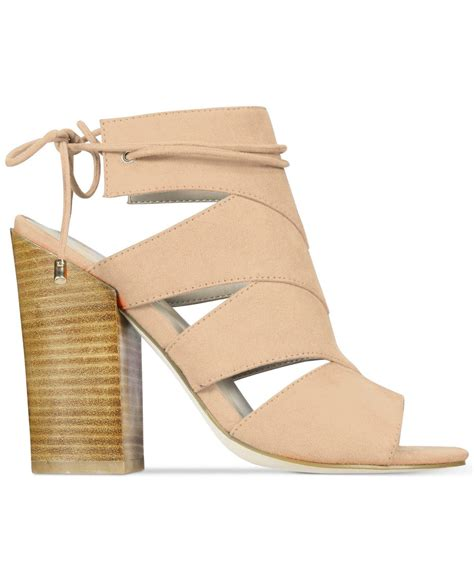 sandals with springs lyst call it asadolla block heel sandals in