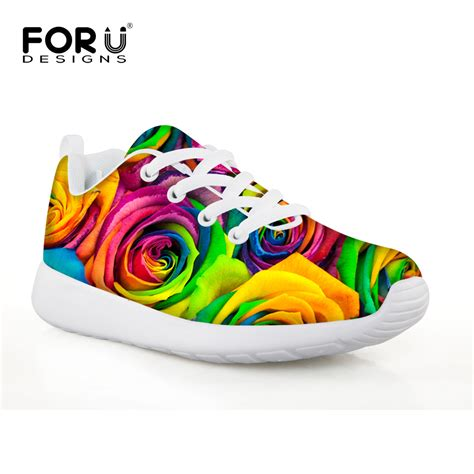 rainbow athletic shoes forudesigns rainbow fitness sport sneakers for