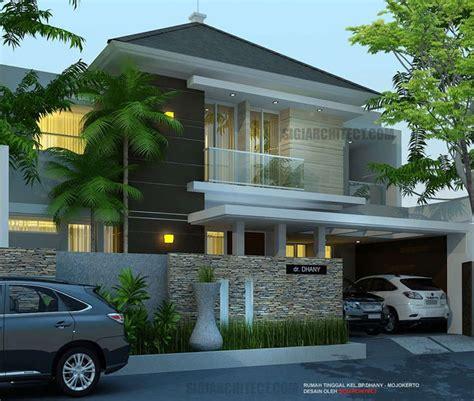 model rumah mewah  lantai  kamar tidur lahan      mojokerto rumah minimalis konsep