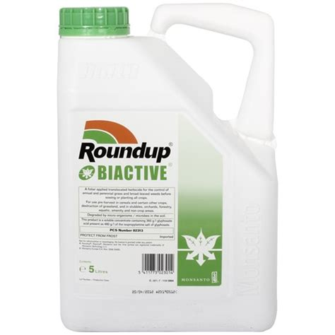 Roundup1 Liter up biactive killer 5 litre lawn feed