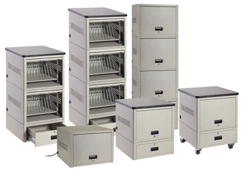 Mobile Device Storage Cabinet by Black Box Introduces Quot Pay As You Grow Quot Stackable Locker