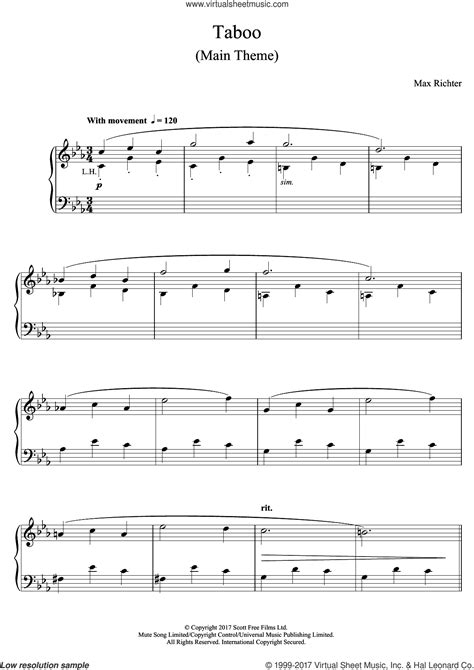 theme music leftovers max richter piano sheet music piano ideas