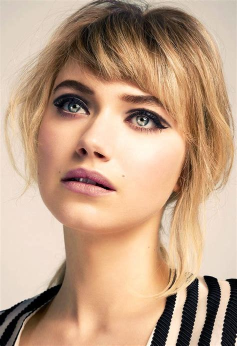 chunky bangs short hairstyle 50 gorgeous side swept bangs hairstyles for every face shape