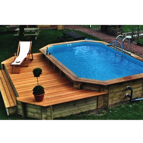 rivestimento in legno per piscine fuori terra ocea pool octogonale allongee piscina fuori terra in
