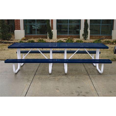 plastic coated picnic tables rectangular thermoplastic picnic table 10 ft plastic