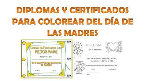 diplomas cristianos dia de la madre para imprimir diplomas para colorear del d 237 a de las madres educaci 243 n