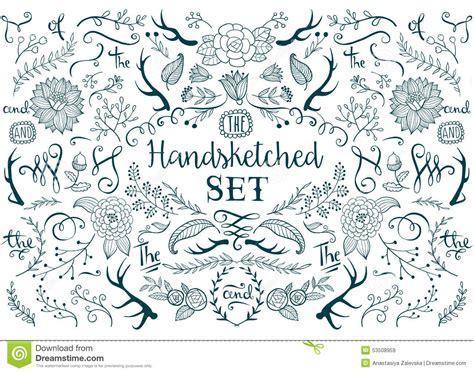 hand draw design elements vector hand drawn vector elements stock vector image 53508959
